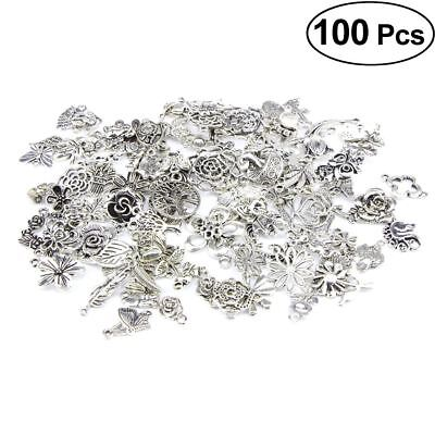 100PCS Wholesale Bulk Lots Jungle Series Silver Mix Charm Pendants Jewelry DIY