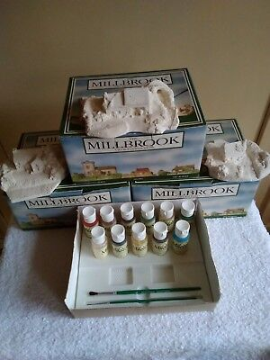 The Millbrook Village Collection From Milestones, For You To Paint. 3 Sculptures