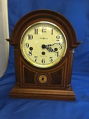 Howard Miller Clock * Barrister Westminster Chimes *inlaid Mantle* !near Mint!