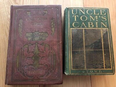 Lot Of 2 Antique Uncle Tom's Cabin / Life Among The Lowly Harriet Beecher Stowe