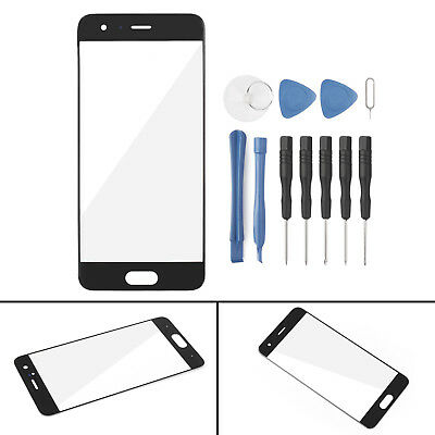 Front LCD Outer Glass Screen Lens Cover Replacement For Huawei Honor 9 Black B2