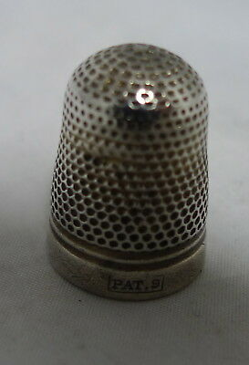 Antique Silver Cased Steel Thimble PAT 9 6g A602017