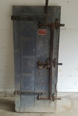 Vintage Tin Clad Fire Door Stremel Bros Minneapolis Minnesota