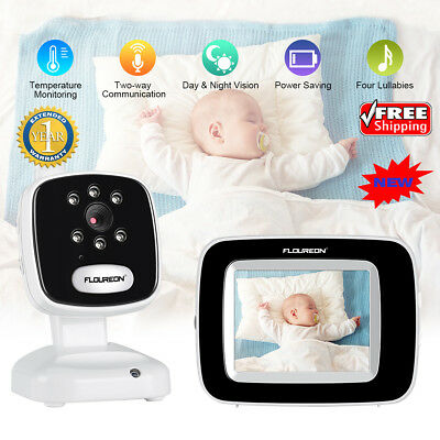 Home LCD Digital Baby Monitor 2.4GHZ Audio Video Camera Temperature Night Vision