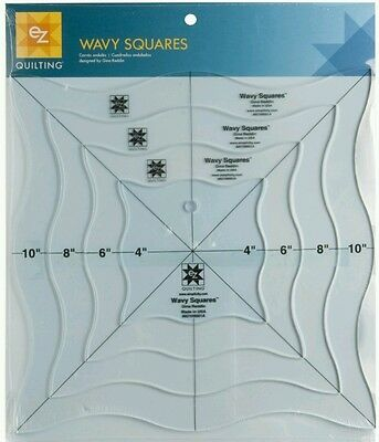 Ez Simplicity Wavy Squares Template Quilting Patchwork Crafting Brand New