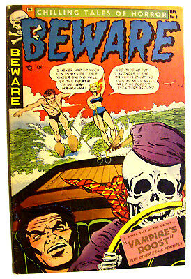 Beware #9 Hollingsworth Cover And Story - Pre-Code Horror 1954!