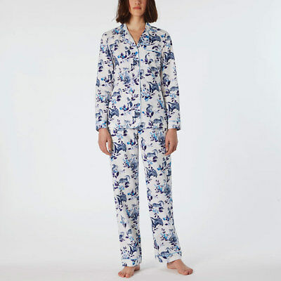 **NEW blue white Cath Kidston forest floral pyjamas m 12 badger fox otter rabbit
