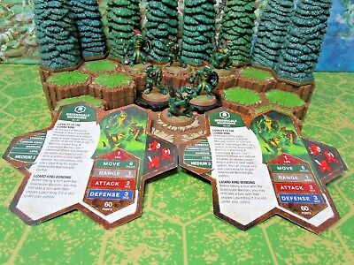 Greenscale Warriors X2 Heroscape Wave D1 Champions Forgotten Realms  Marked