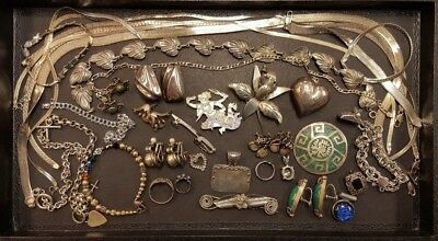Lot of Estate/Pre Owned Sterling Silver Jewelry - Some with Stones | 407 grams