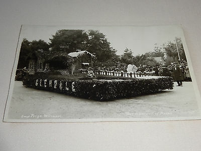 TOURNAMENT OF ROSES FLOAT, GLENDALE 2nd PRIZE WINNER REAL PHOTO POSTCARD f8