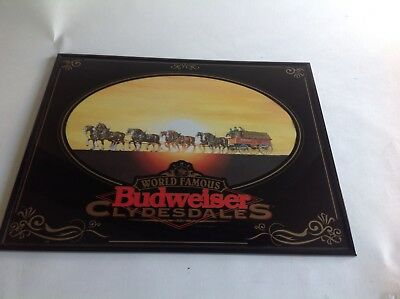 """The World Famous Budweiser Clydesdales 1995 Framed 16""""x20"""" Wall Hanging~Man Cave"""