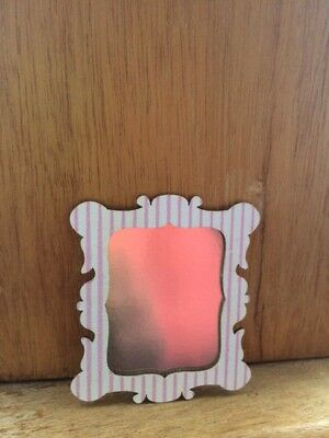 DOLL HOUSE 12th SCALE LOVELY WOODEN FRAMED FAUX MIRROR !! SPECIAL OFFER