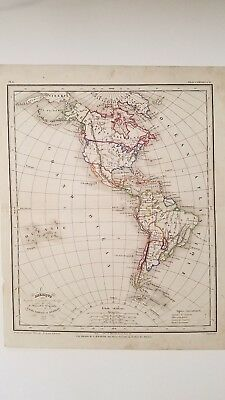 Antique Map of North/South America by Meissas & Michelot  1856