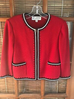 Gorgeous ST JOHN Collection by Marie Gray Santana Knit Jacket 6 Made in USA