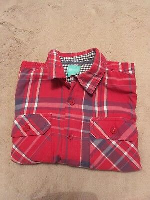 MONSOON.Boys Long Sleeve Check Shirt.100% Cotton.Age 5-6 Years.