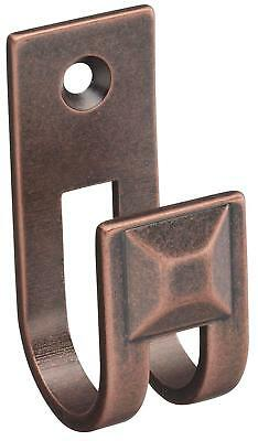 """Lot of 5 - Stanley Home Designs 2-1/2"""" Hook, Distressed Antique Copper S803-957"""