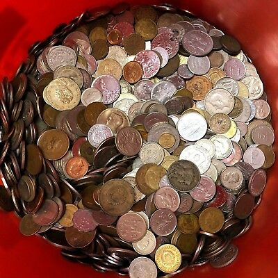 5 lbs of WORLD / FOREIGN COINS, mixed bulk lots by the pound! Many Countries!