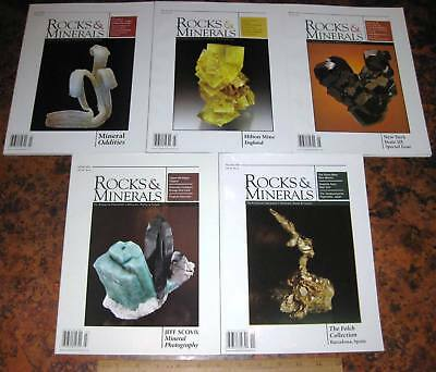 5 Issues ROCKS & MINERALS MAGAZINES Vol 84 2009 Mineralogy Lapidary Crystals Gem