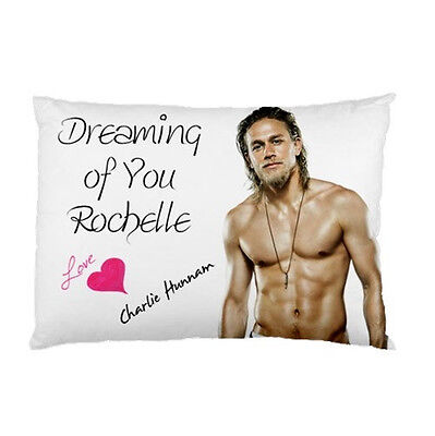 CHARLIE HUNNAM Dreaming of You Personalized custom made bed pillow case slip