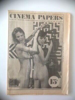 Cinema Papers, Volume 1, No. 1, Melbourne 24 Oct 1969 (1st issue)