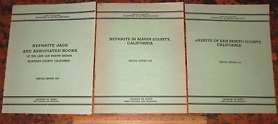 CALIFORNIA JADE A Collection of 3 Special Reports From CDMG by Crippen 1951 Gems