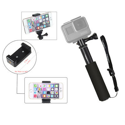 Selfie Stick Telescopic Monopods Pole w/ Phone Clip for Gopro Hero 6 5 Session 5