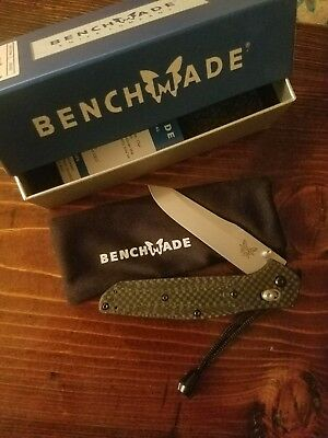 Benchmade Osborne 940-1 Carbon Fiber Handle Axis Lock Plain Edge Knife S90V