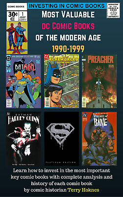 INVESTING IN COMIC BOOKS - Top Most Valuable Books 1990's DC batman harley quinn