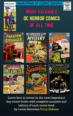 INVESTING IN COMIC BOOKS - Top Most Valuable Books DC HORROR All Time 1940s 50s