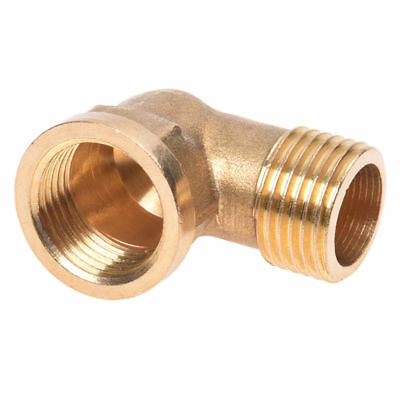 1X(1/ 2PT Male to 1/ 2NPT Female Thread Elbow Pipe Coupler J3B4)