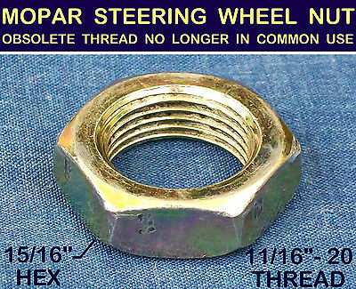 NOS OLD STEERING WHEEL NUT 1930's 30s MOPAR OBSOLETE 11/16-20 ✖Extra Fine THREAD