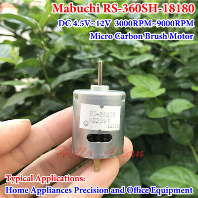 Mabuchi RS-360SH DC 5V 6v 7.4V 12V 9000RPM Micro DC Motor DIY Car Boat Toy Model