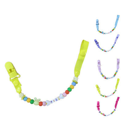 Dummy Clip Baby Silicone Pacifier Clips BPA Free Teether Soother Pacifier Chain