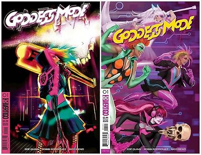 Goddess Mode #1 (DC Vertigo 2018) Main Cover and Variant Zoi Quinn