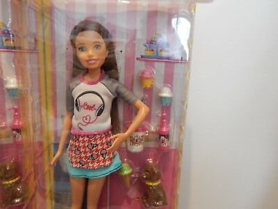 New Rare Skipper Barbie Doll With Ice Cream Stand