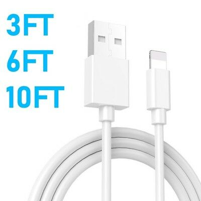 3FT 6FT 10FT USB Lightning Charging Cable Charger For iPhone 5 X 8 7 6S 6 Plus