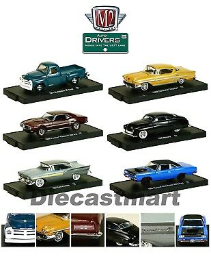 Drivers 6 Cars Set Release 33 In Blister Pack 1:64 By M2 Machines 11228-33