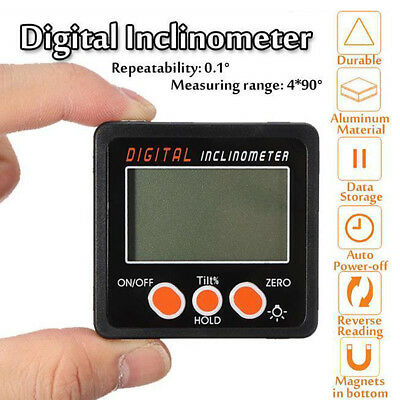 360° LCD Digital Inclinometer Level Box Gauge Angle Meter Finder Protractor UK F