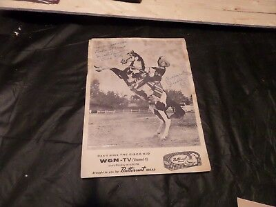 Signed Photo Of The Cisco Kid And His Horse Diablo