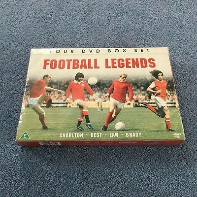 Football Legends - Best, Brady, Charlton And Law (DVD, 2013, 4-Disc Set, Box...