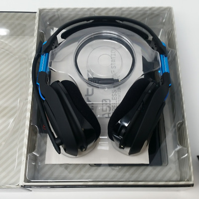 A50 Wireless Dolby Gaming Headset-Black/Blue-PlayStation 4   PC, 5GHz Wireless