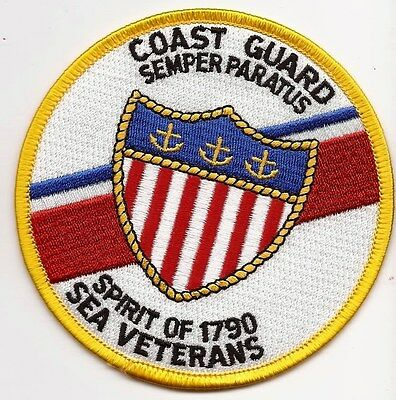 "USCG United States Coast Guard Patch Sea Veterans ""Spirit of 1790"" 4 In #2343"