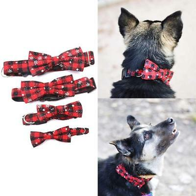 Small Dog Collar Bow Tie Soft Cotton Necklace Pet Puppy Cat Christmas Xmas