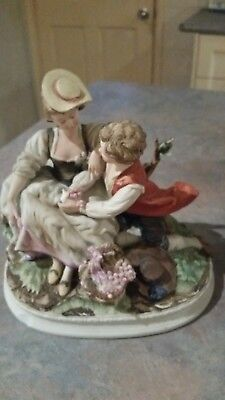 Seto Ceramics Embracing Couple Figurine-collector/numbered