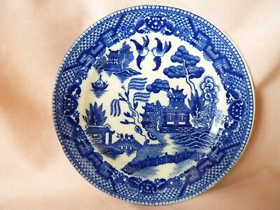 VINTAGE BLUE WILLOW Pattern Side Plate Made in JAPAN Orphaned Replacement