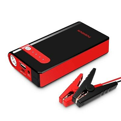 PUSHIDUN Jump Starter 10000mAh 500A Peak Car Battery Booster Pack Start 12V U...
