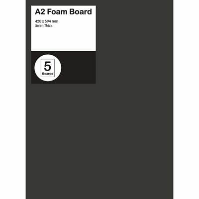 A2 Foam Board 5mm Black 5 Pack