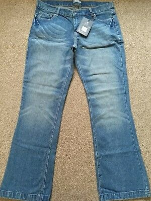 """kangol classic blue flaire jeans s16 L32"""" New."""