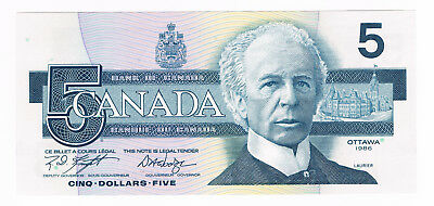 5 Dollars 1986 Canada / Kanada (Belted Kingsfisher) Knight - Dodge UNC