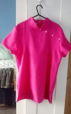 Ladies pink beauty/salon, spa, hairdressers tunic size 10